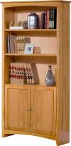 image of Alder Shaker Bookcase with Doors